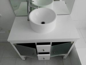 sink bench after
