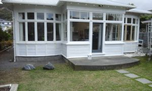 primed and sanded house